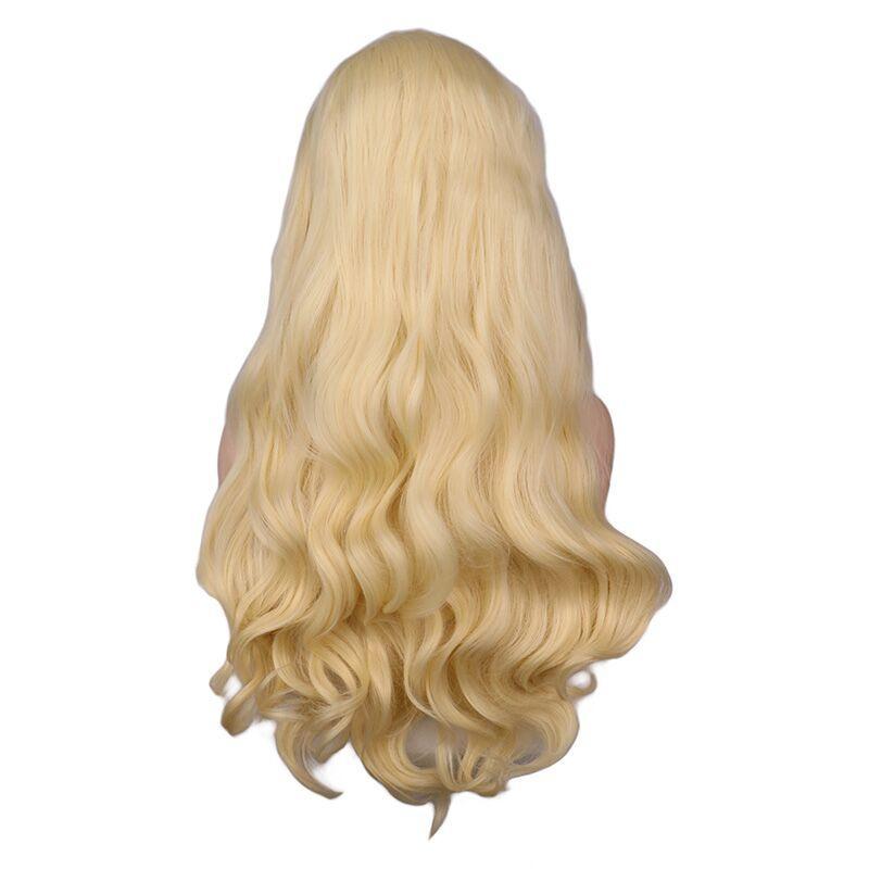 Turecolor Парики Синтетический Парик Фронта Шнурка 613 Блондинка Светло-Розовый Натуральный Длинный Объем Волна Парики Женщин