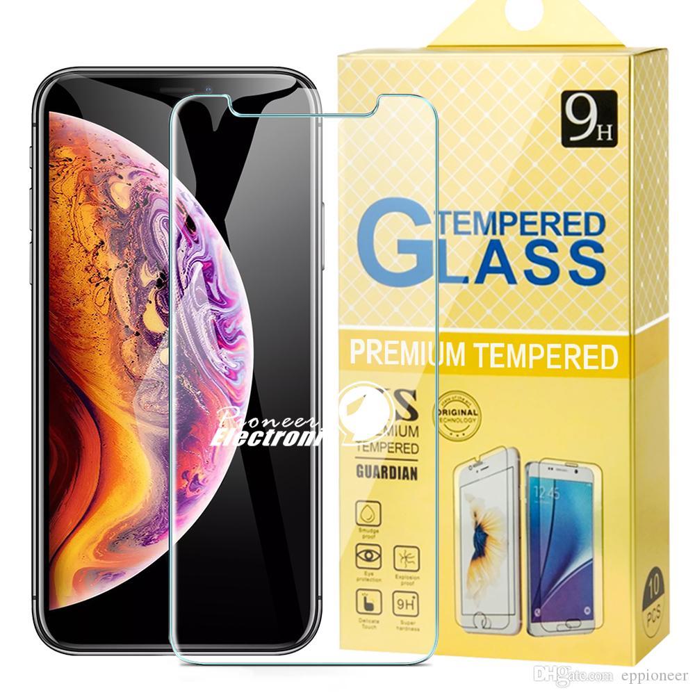 Para novo iPhone 12 mini-11 PRO XR XS MAX X 8 7 Samsung A50 S7 S6 temperado tela de vidro Protector Huawei Companheiro 20 X P20 Lite pro pacote de papel