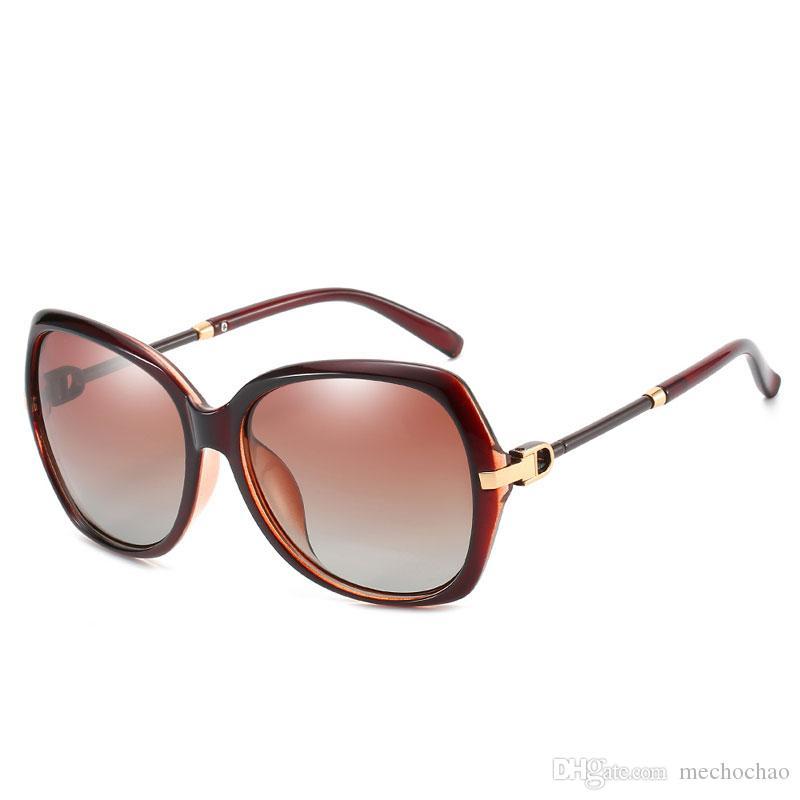 Nuevas gafas de sol de mujer de gama alta Gafas de sol de gama alta de Europa y Estados Unidos modelos de explosión transfronterizos Lentes polarizadas Gafas de sol UV