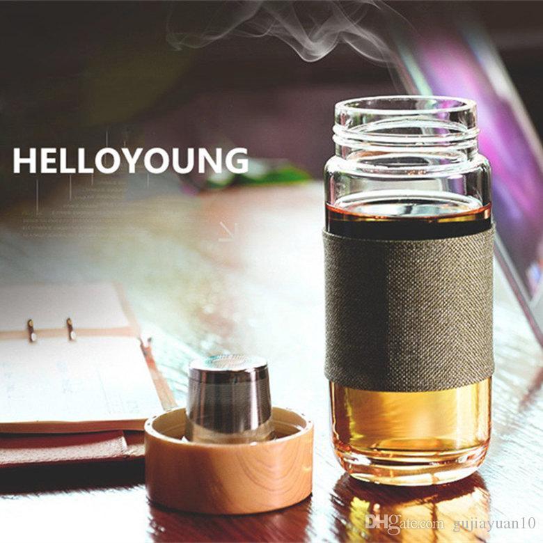 Su teaTumbler Benim içecek Araba seyahat şişeleri Tercih İçin Paslanmaz Çelik 304 Çay sızıntıları Filtre Şişe ile Cam çay suyu Şişe