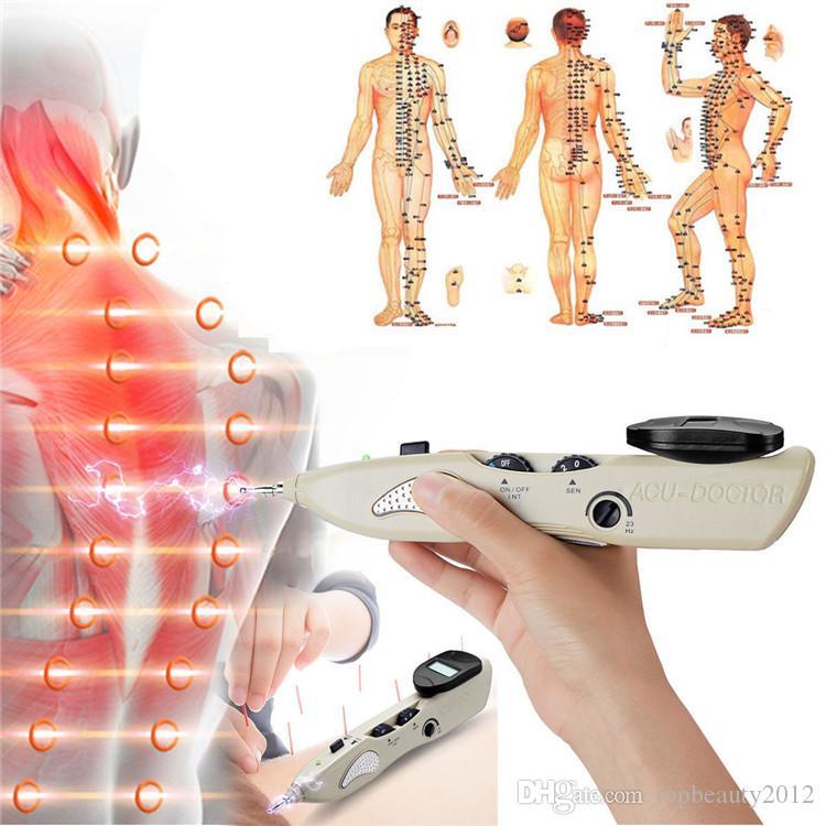 الوخز بالإبر القلم الإلكترونية الوخز بالإبر الكاشف نقطة جهاز تدليك ميريديان الطاقة القلم الألم العلاج الرعاية الصحية