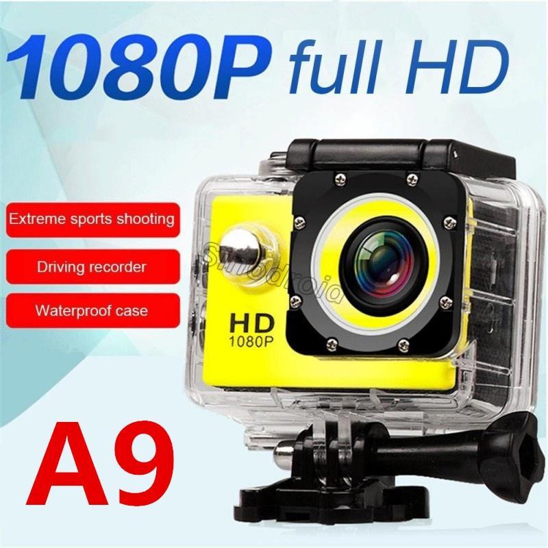 "Sports HD Action Camera Diving 30M 2"" 140° Meter Waterproof Cameras 1080P Full HD SJcam Helmet Underwater Sport DV Car DVR Cheapest A9"
