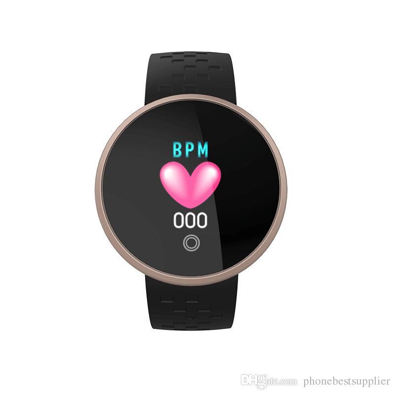 Impermeable Inteligente Bluetooth Relojes de señora Relojes inteligentes Calorías para mujeres Reloj HeartRate Reloj de pulsera digital de belleza para teléfono Android IOS