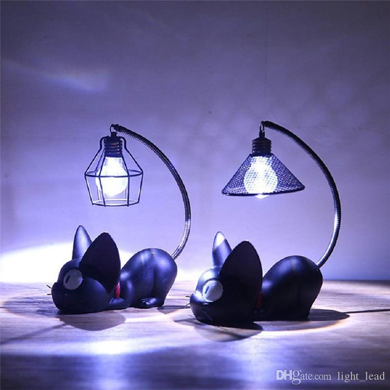 Luminaria lumières LED magique chat de bande dessinée animale Veilleuse nurseries Lampe de table pour bébé enfant cadeau d'anniversaire Décoration