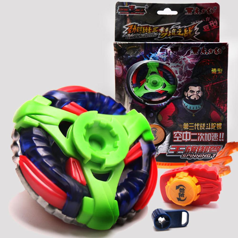 Combat Beybleyd with Grip Launcher Gyroscope Line Glowing Toy For Children Desk-top Game