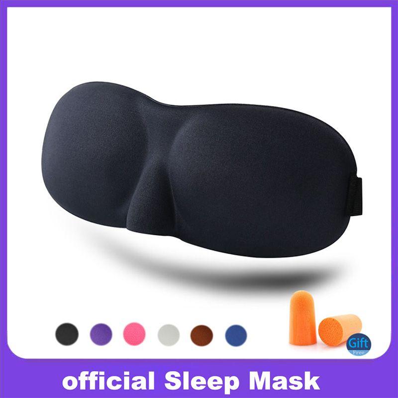 3D Uyku Maskesi hızlı Uyku Göz Maskesi Siperliği Kapak Gölge Yama Kadın Erkek Yumuşak Taşınabilir Körü Körüne Seyahat slaapmasker