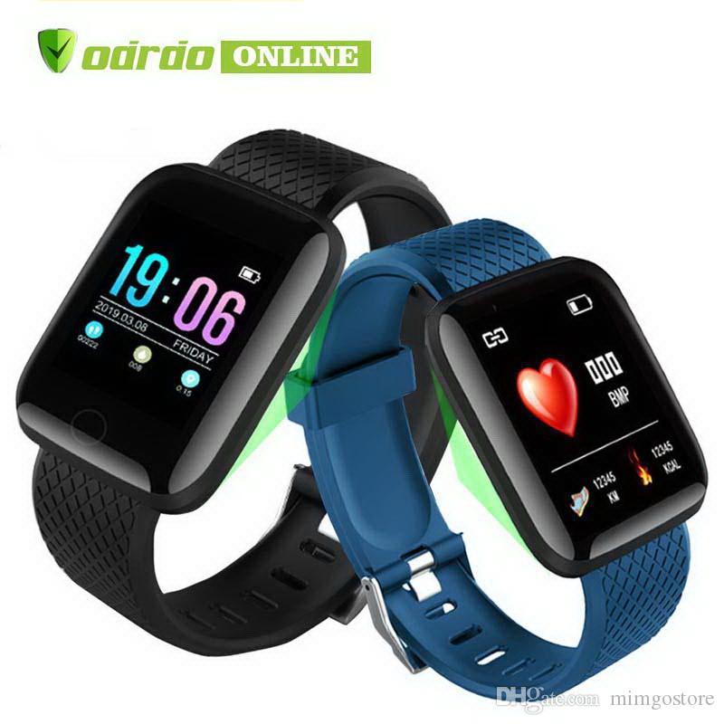 116 PLUS Smart Bracelet Waterproof Fitness Tracker Watch Blood Pressure Heart Rate Monitor Smart Band Women Men