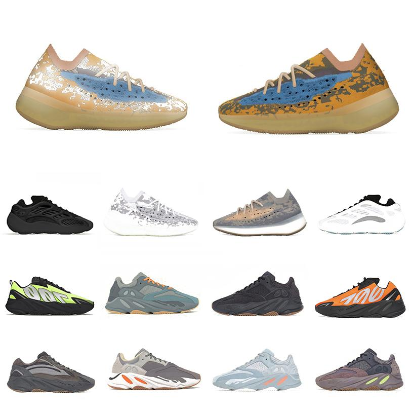 Boost Stock X 380 Mist Reflective Alien Kanye west Men women running shoes Azael Alvah Vanta 700 Utility Black V3 mens sports designer sneakers