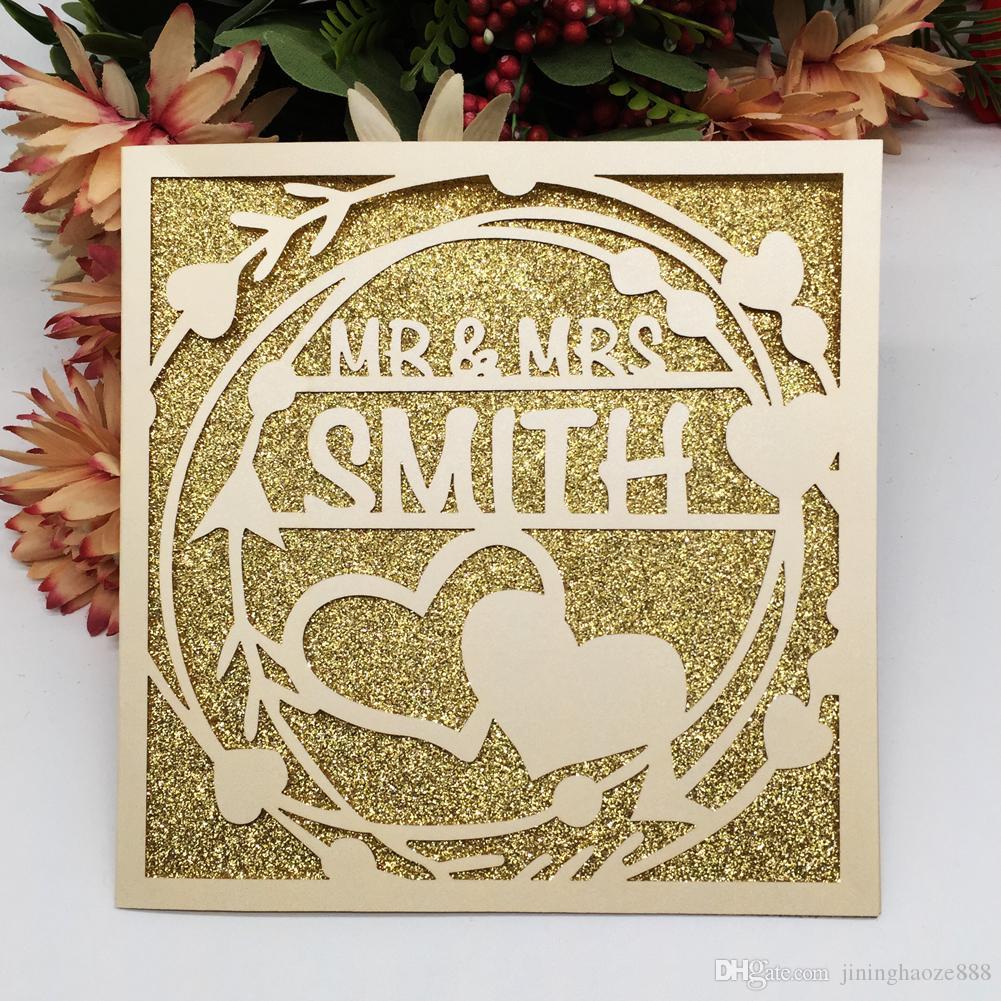 Hollow Laser Cut Wedding Invitation Cards Custom Exquisite Sculpture Cards Graduation Invitation Valentines Day Party Invitation Supplies Wedding