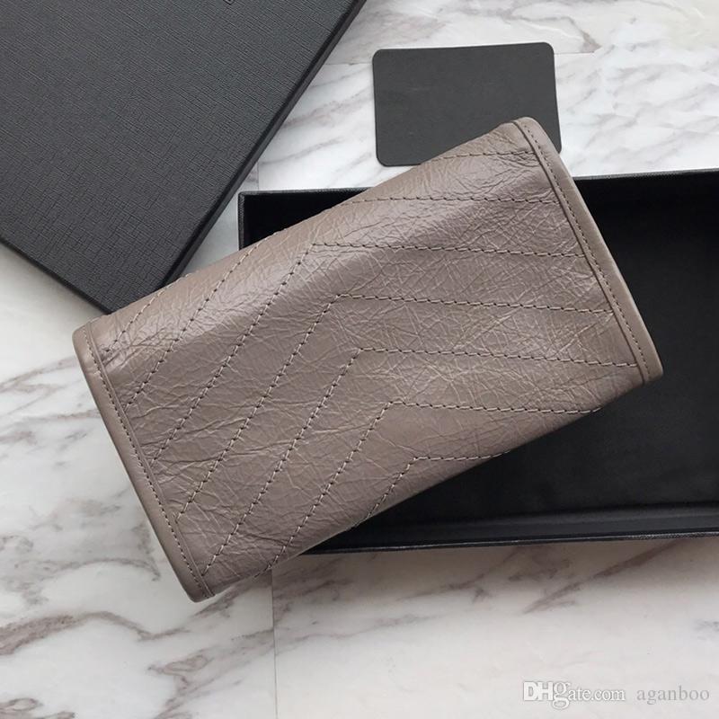 Top Luxury Clutch Wallet De Couro Mulheres Mulheres Long Vintage Marca Bolsa Feminina Moda Qualidade Niki Designer Carteira GHXVK