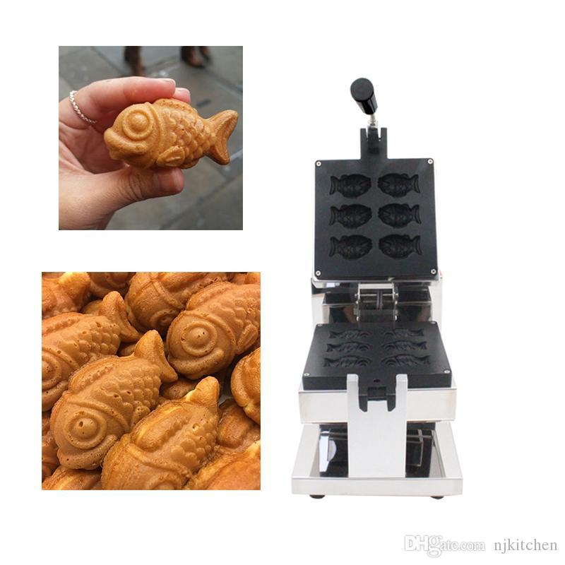 Yapışmaz Muhallebi Balıklar Waffle makinesi Elektrikli 110 v 220 v Büyük gözler Küçük Taiyaki Makinesi Demir Baker Balık Kek Yapma Fırın Izgara