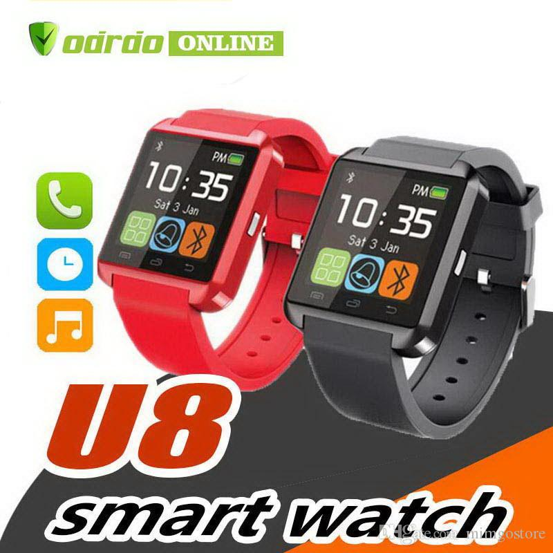 U8 Smart Watch Bluetooth wristwatch Phone Mate Smartwatch U Watch Wristwith passometer Sleep Tracker for ip 7 plus 8 samsung note 8 s8 plus