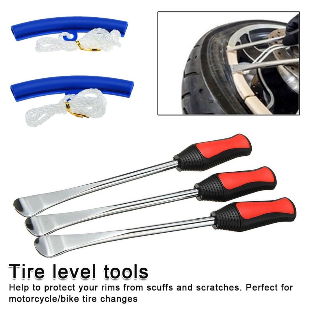 2 Wheel Rim Protectors Tool Kit for Motorcycle Tire Iron Changing Tyre Tire Lever Tool Spoon Set 3 Tire Lever Tool Spoon