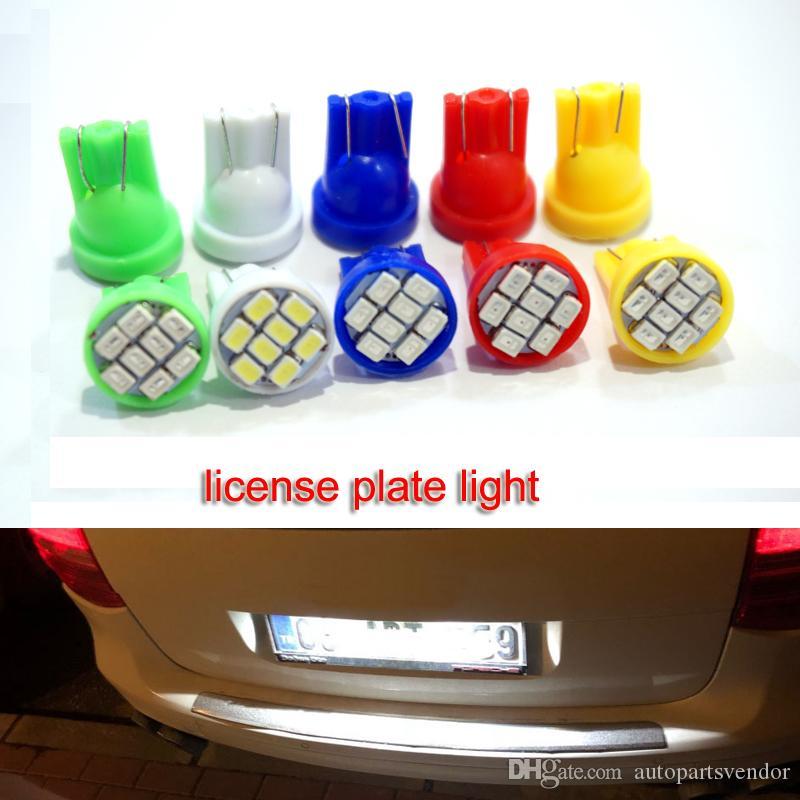 100x Led T10 8 SMD 1206 luce dell'automobile 194 168 192 W5W 3020 Auto cuneo di illuminazione strumento 12V DC Liquidazione lettura lampadine interni luce bianca