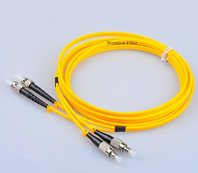ST-FC FTTH Duplex Single Mode Fiber Optic Patchcord Fiber Jumper 3Meters Weunion