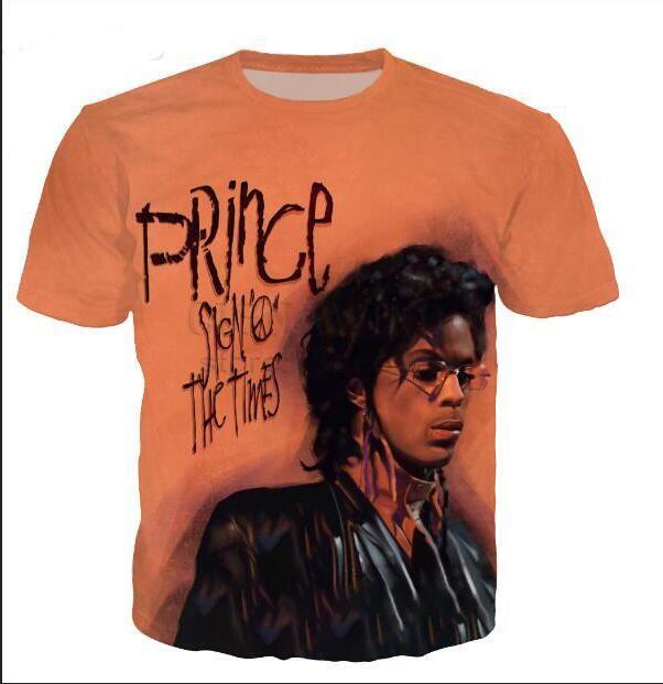 Nova Moda Das Mulheres Dos Homens Cantor Príncipe Rogers Nelson Engraçado 3d Impressão Unisex T-shirt Ocasional T Camisa de Hip Hop Verão Tops XB028