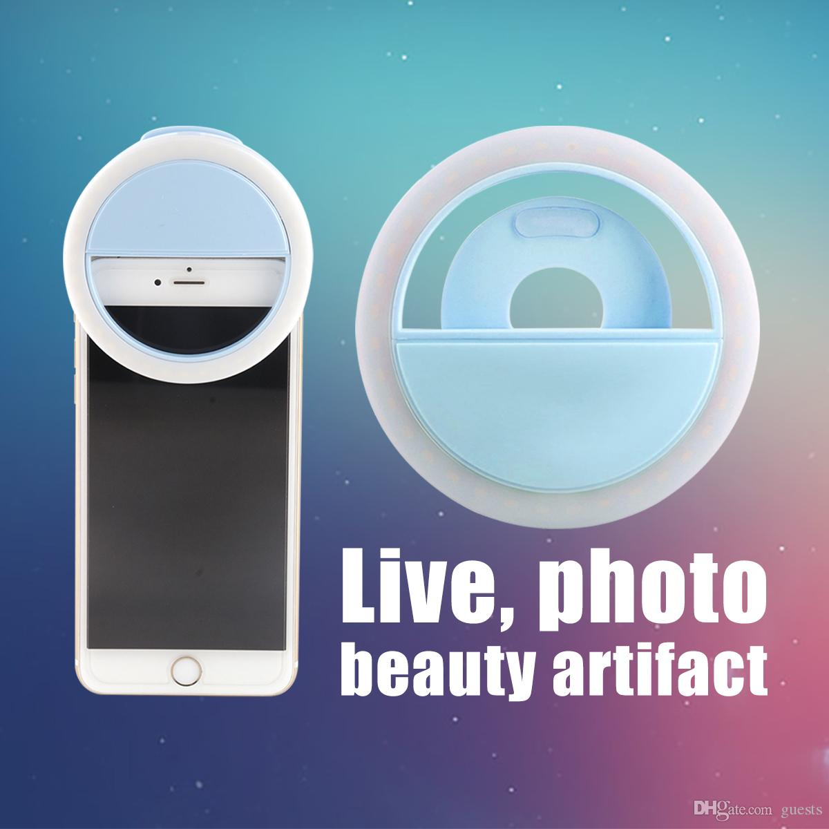 Ring light Manufacturer charging LED flash beauty fill selfie lamp outdoor selfie ring light rechargeable for all mobile phone with box