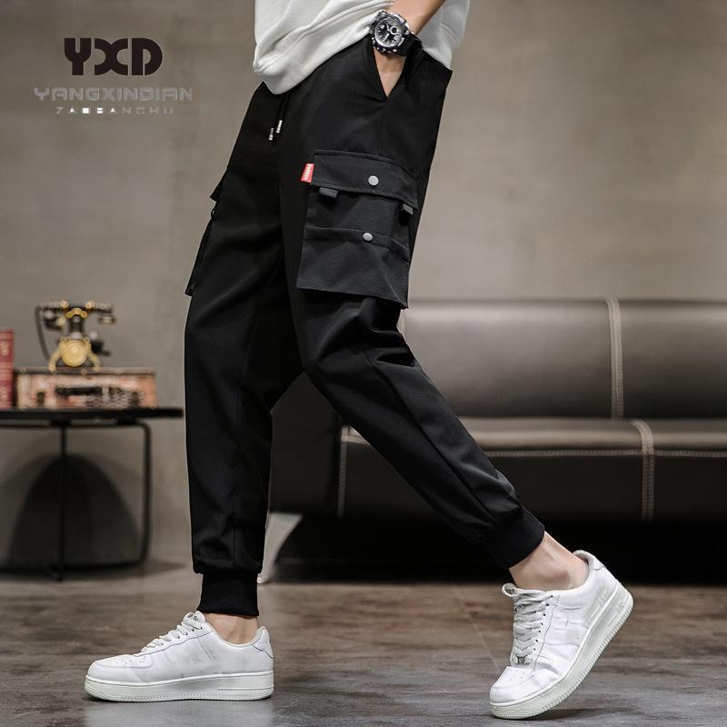 Drop shipping men clothing Multi-pocket cargo pants man streetwear hip hop pants mens fashion track Casual Trousers Jogger