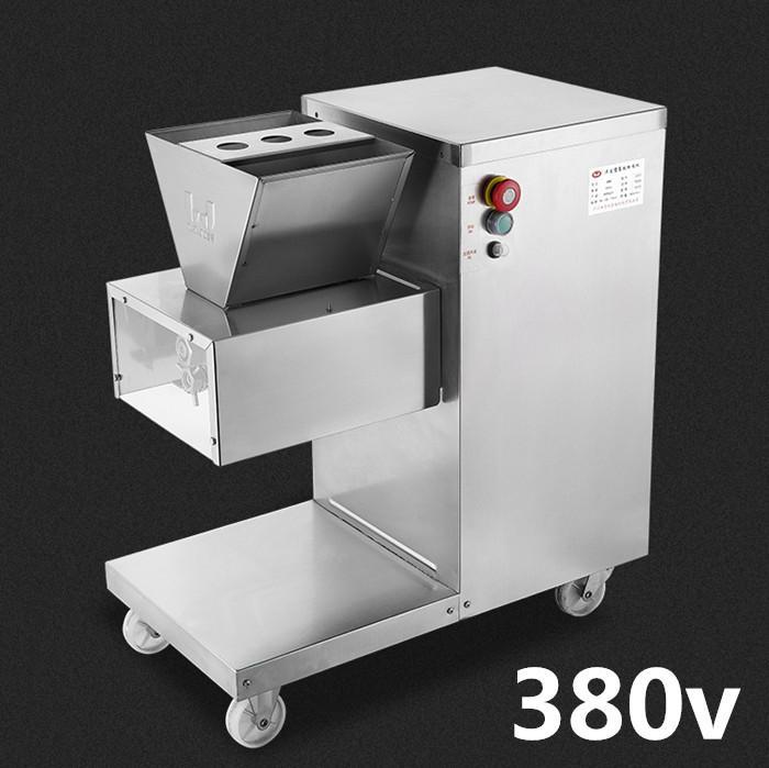 Großhandel - Freies Verschiffen 750W 380V QW Fleischschneidemaschine, Fleischschneider, Fleischschneider, 800kg / HR Fleischverarbeitungsmaschinen