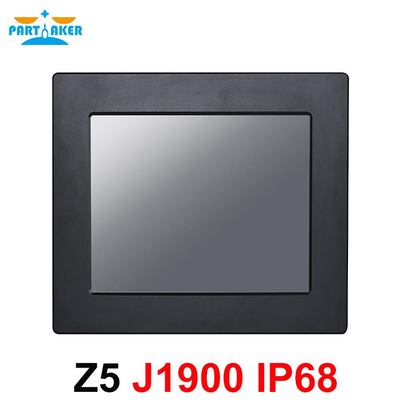 Tek Dayanıklı Dokunmatik Ekran Windows 7/10 / Linux Intel Celeron J1900 içinde IP68 Tam su geçirmez 10.4 İnç Endüstriyel Panel PC Tüm