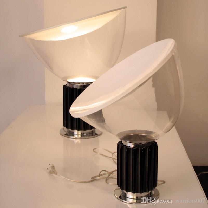 مكتب الحديثة Taccia الجدول مصباح اشيل Castig الأسود الفضة معدن مصباح للنوم غرفة المعيشة بار القهوة جدول مخزن الخفيفة