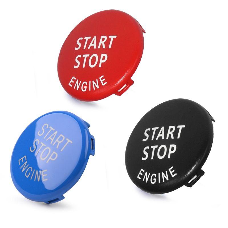 Carro Start Stop Interruptor Botão Capa Substituir Fit para BMW F20 F30 F34 F10 F15 F16 F25 F26 E90 E91 E60 Auto Acessórios Hha94