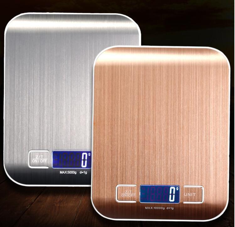 40 ADET LCD Elektronik Mutfak Terazi Denge Pişirme Ölçü Araçları Dijital Paslanmaz Çelik 5000g / 1g Dijital Tartı Gıda Ölçeği