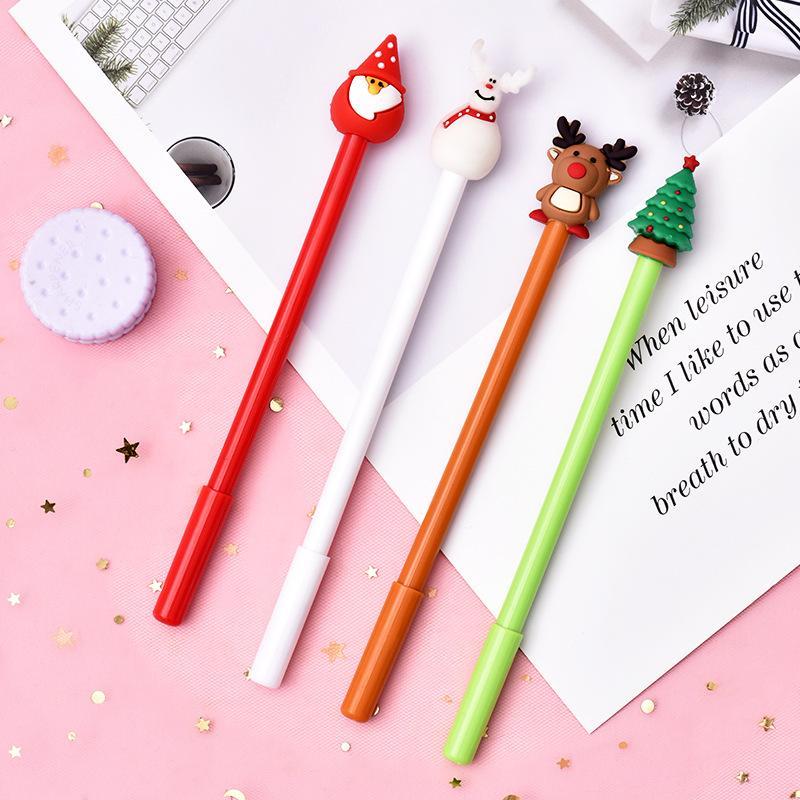 Series Natal dos desenhos animados 0,5 milímetros Pen Neutral preto bonito criativa Estudantes Gel Pen para presentes de Natal Stationery Office WB2152