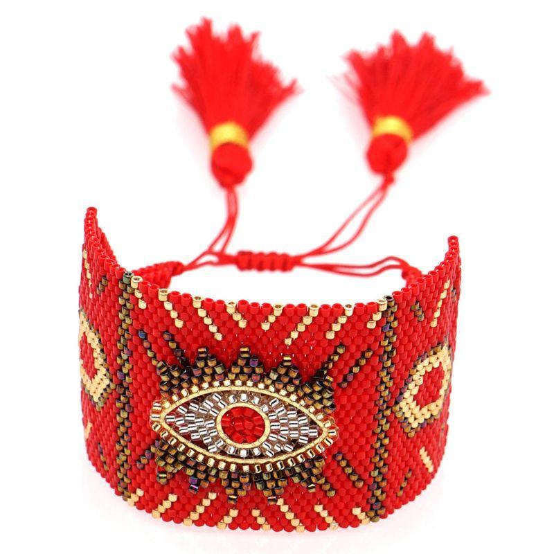 Weiblich Turkish Evil Eye Armband-Charme-handgemachte gesponnene Korn-Frauen-Friendship-Geschenke