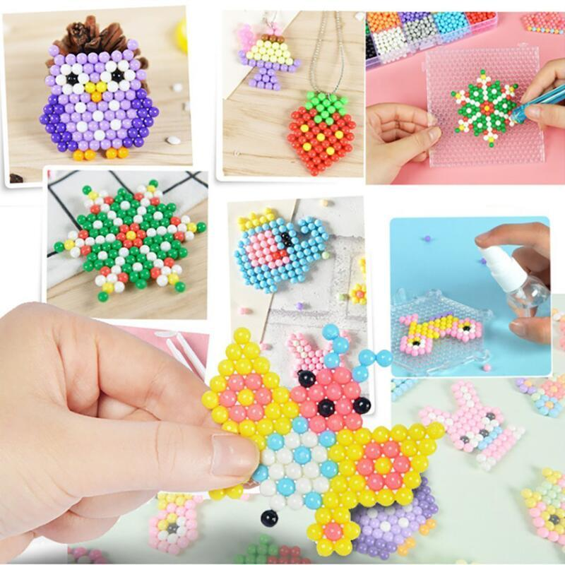 250g 36 Colors Crystal DIY Beads Water Spray Magic Hand Making 3D Puzzle Educational Toys for Children Kit Ball Game
