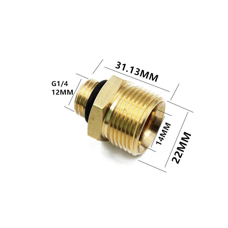 2019 Nozzle Adaptor M22 Female For M22 M14 Male Wash Gun To Foamer