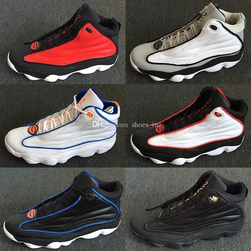Hombres Pro Strong 13.5 Zapatillas de baloncesto Gimnasio Rojo Blanco / Negro-Varsity Rojo Negro Patente Zapatillas deportivas Hombres Pro Strong Entrenadores Atletismo barato