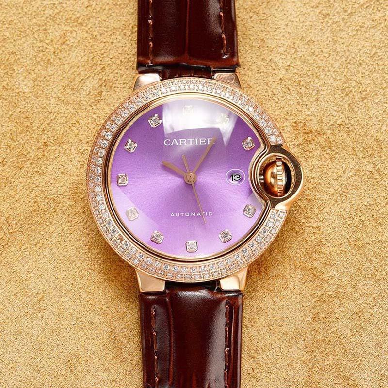 mulheres relógios de luxo de aço inoxidável completa cinta relógio automático de ouro de alta qualidade relógio de pulso de safira 5ATM impermeável Frete grátis 98