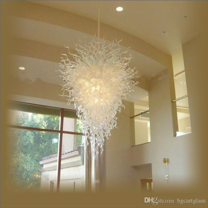 LED-Lichtquelle 100% hand geblasenes Glas Kristallleuchter Traditionelle Art Berg gebranntes Borosilicatglas Moderne Kronleuchter Licht