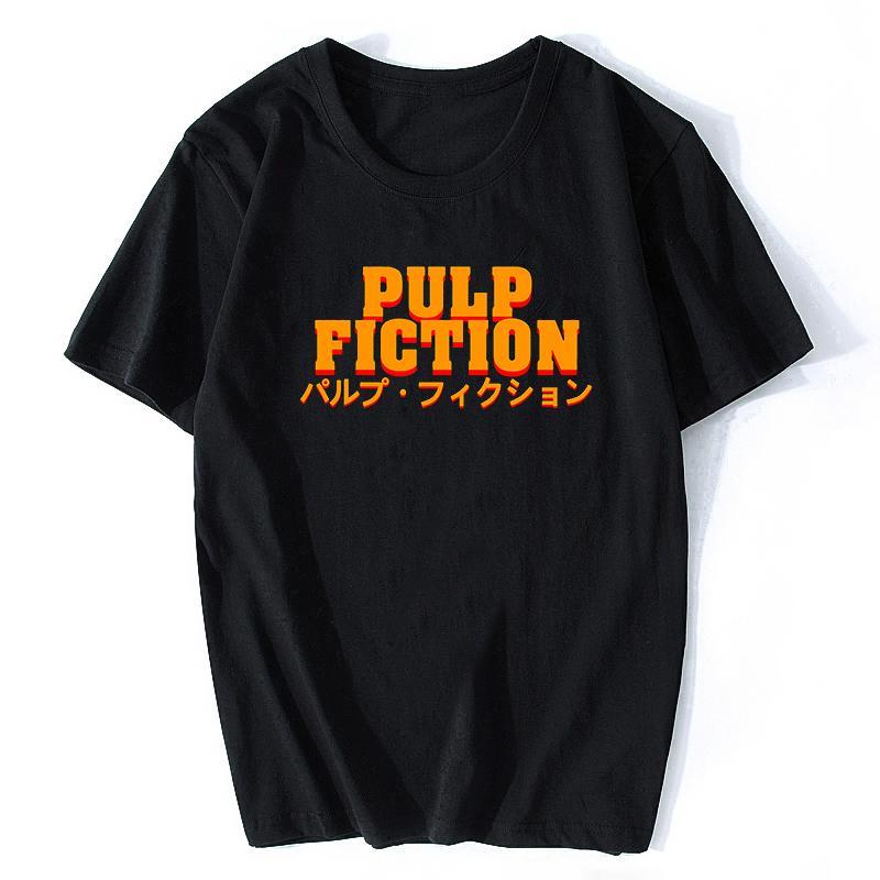 Фильм Mia Wallace Pulp Fiction T Shirt Мужчины / женщины Мода лето Квентин Тарантино Футболка Hip Hop Printed Top Tee Plus Size