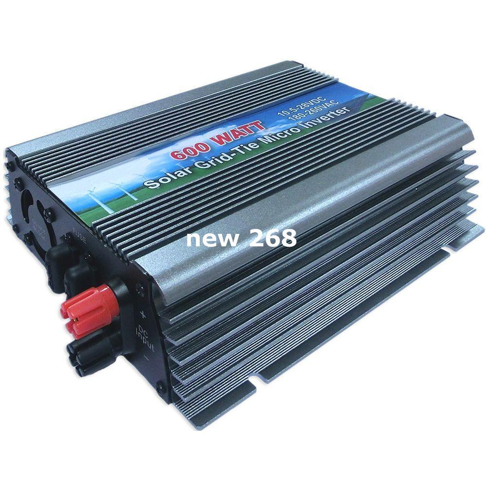 Freeshipping 600W On Grid Tie Solar Power Inverter 10.5V~28V DC to AC110V or 220V Pure Sine Wave Micro Inverter for 600~720W 18V PV Module
