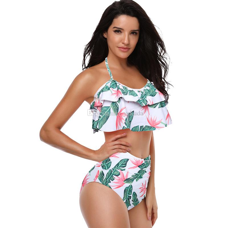Kadınlar Bikini seksi yüksek bel bikini mayo, Yüksek Kalite Moda mayo ile ucuz Satılık Mayo esnek şık, satılık online mağaza