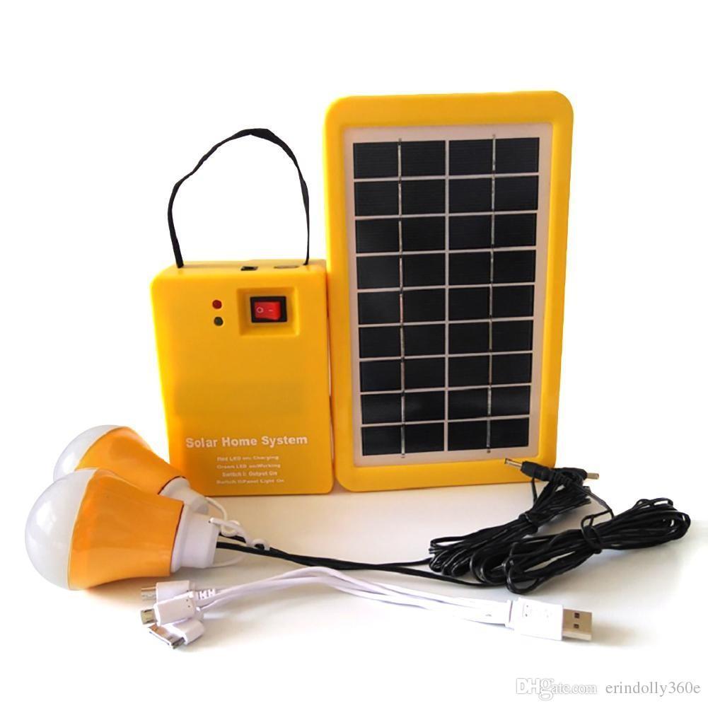 الصفحة الرئيسية المحمولة في الهواء الطلق الصغيرة الألواح الشمسية DC شحن مولد نظام توليد الطاقة 4.5Ah / 6V بطاريات الرصاص الحمضية الصمام الطاقة
