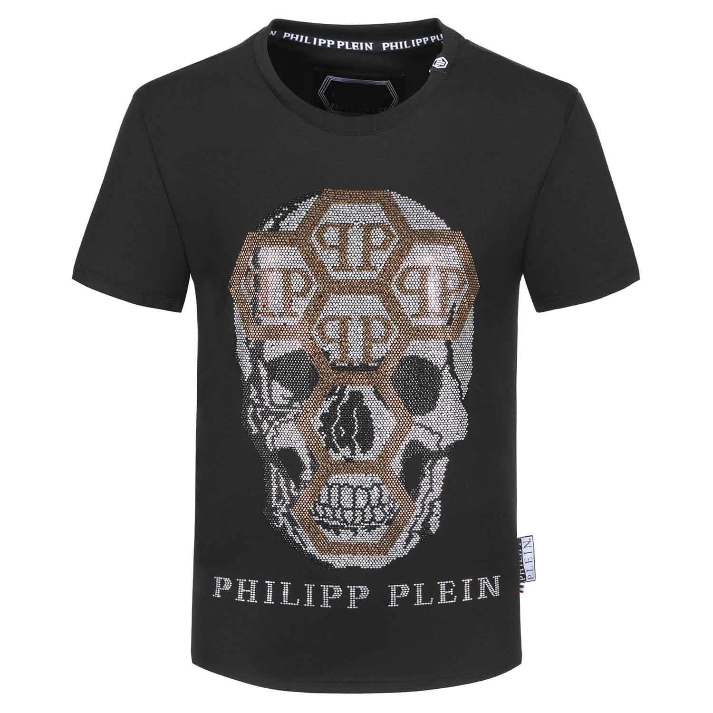 la stampa di lettere degli uomini cranio e femminile T-shirt di alta qualità nero bianco dei T-shirt taglia M-4 T-shirt design degli uomini di lusso QVP di alta qualità