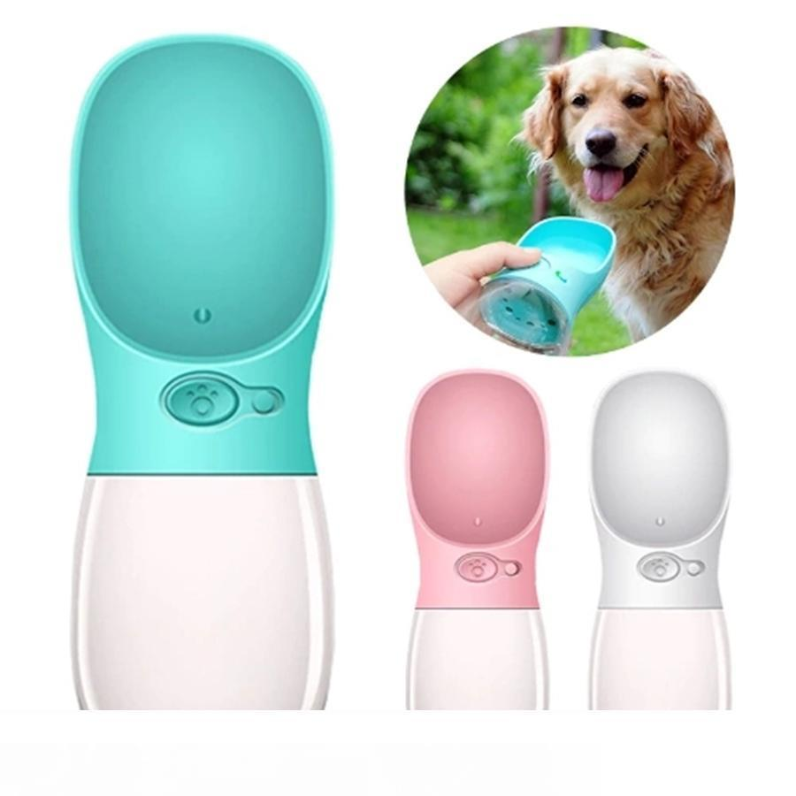 550ML Portable Pet Dog Water Bottle For Travel Cats Dogs Drinking Pough Outdoor Pet Water Disperser Feeder Leak