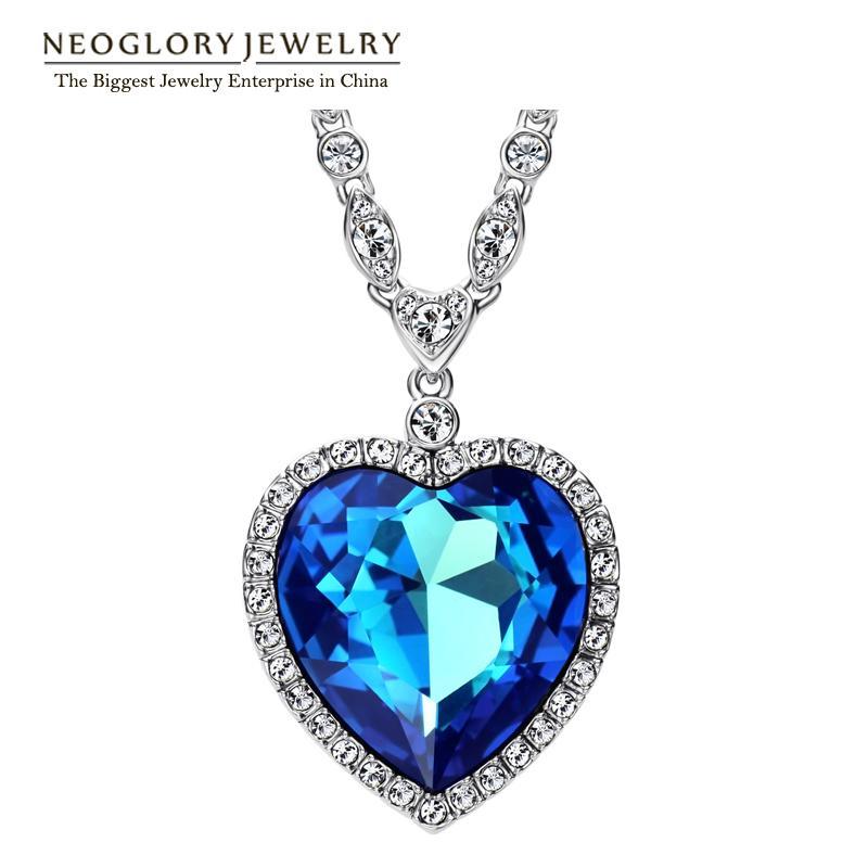 Neoglory Heart Love Maxi Boho Choker NecklacesPendants pour Femmes Mode Jewelry2020Embellished avec cristaux de Swarovski CJ191223