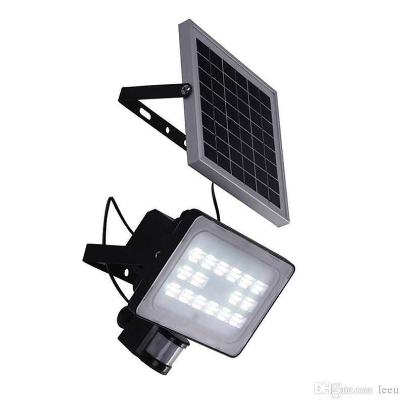 30W الطاقة الشمسية لوحة LED الأضواء الكاشفة IP65 الأمن حديقة الخفيفة PIR الحركة الاستشعار مصابيح الطاقة الشمسية لإضاءة الحديقة في الهواء الطلق مقاوم للماء