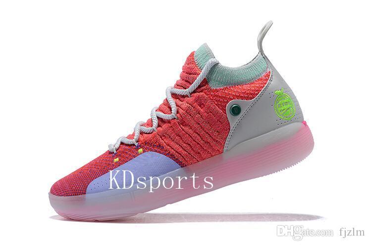 2019 الجديدة KD 11 EP الأبيض أورانج رغوة الوردي المذعور أوريو أحذية كرة السلة ICE الأصل كيفن دورانت XI KD11 رجل مدرب حذاء رياضة حجم 7-12