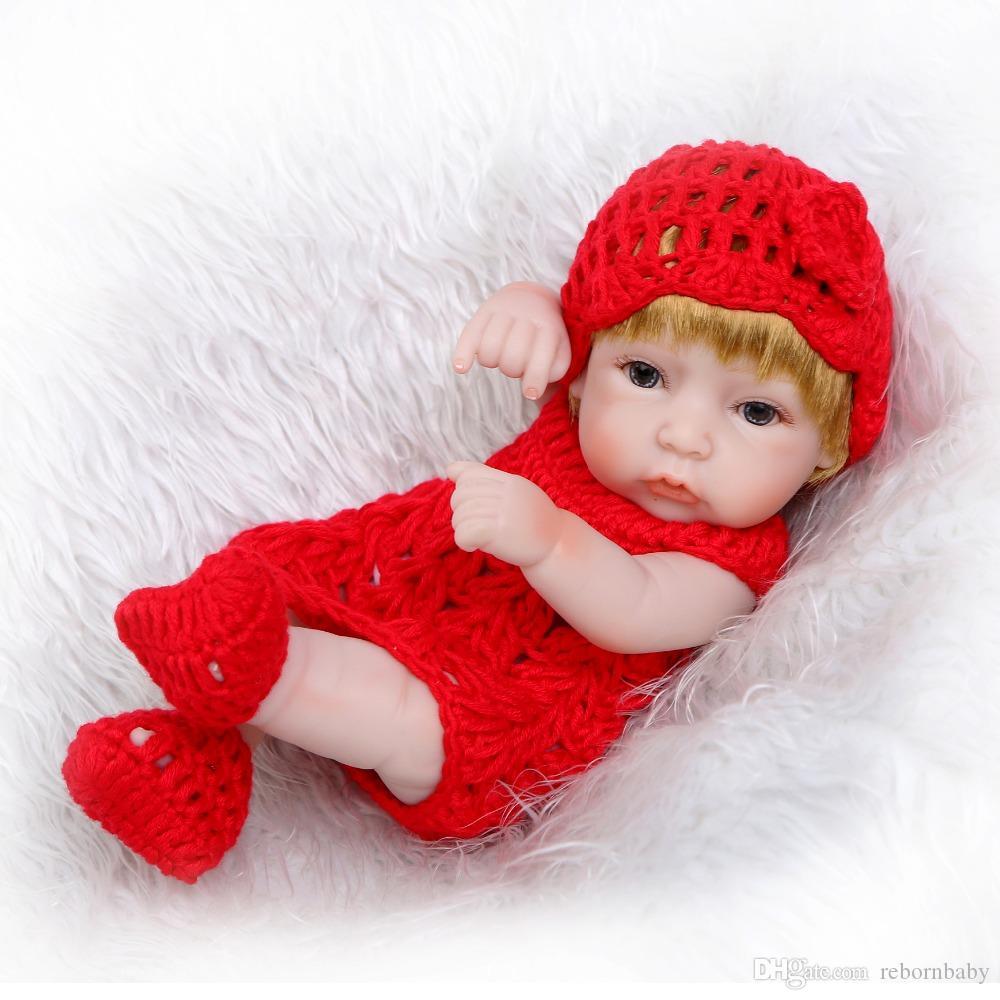 НПК Классический 12-дюймовый Принцесса девушки куклы ручной работы Полный силиконовые Виниловые Reborn Детские куклы с красной одежды Набор детей Подарок на день рождения