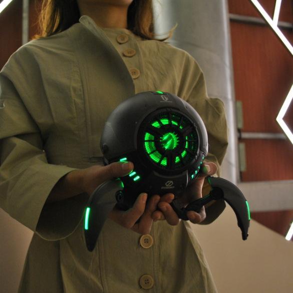 LP1033X2 силы тяжести звезда Bluetooth динамик сабвуфера звук холодный черный дар поддерживает технологию TWS беспроводное соединение