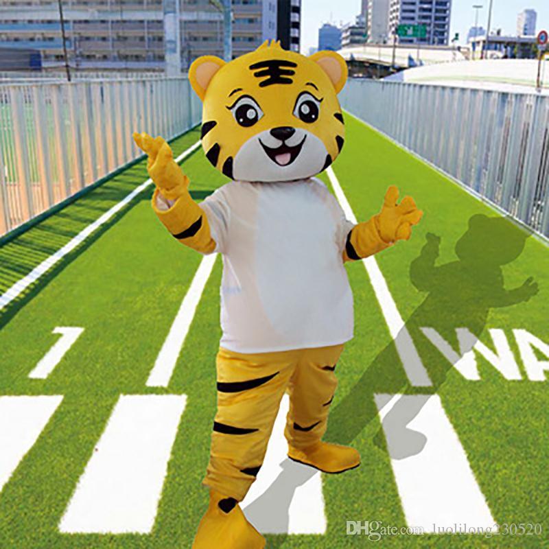 tigre Livraison gratuite costume de mascotte costumée Cartoon animal adulte Taille