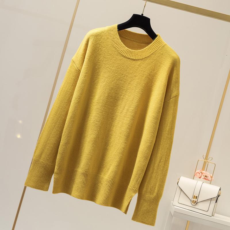 Fünf Farben O-Ansatz beiläufige Jumper Fest lose Art und Weise Winter-Frauen Pull Femme Strickpullover Pullover New 2.019 Weiblich