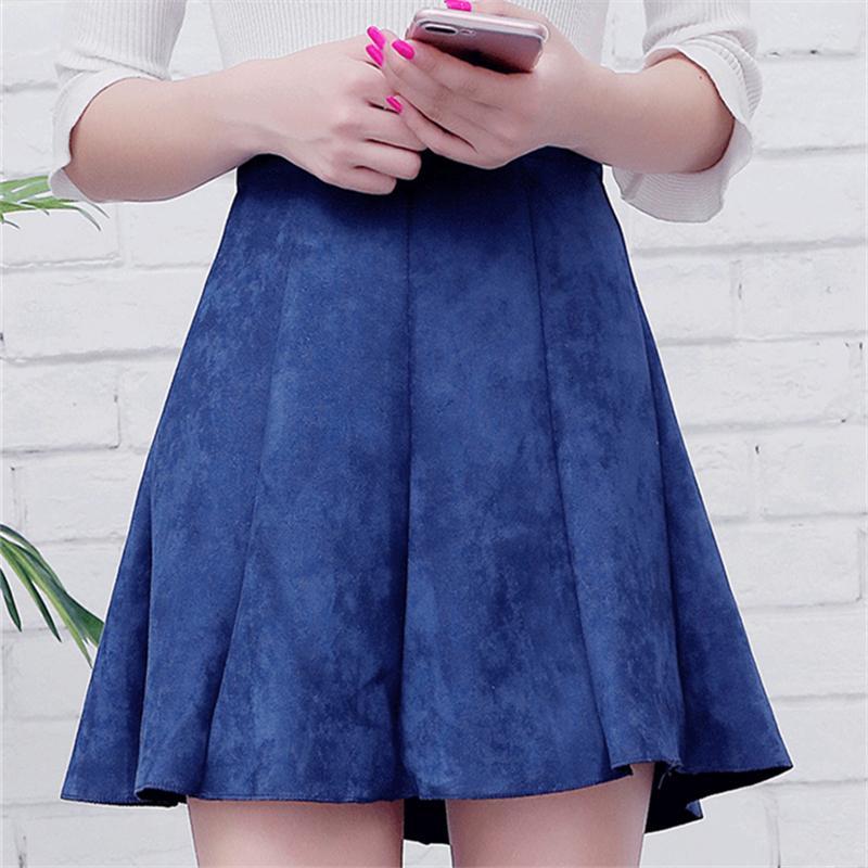 Плиссированные юбки Юбки для женщин зима 2019 Женщины Мини плиссированные юбки Опрятный Стиль Falda Plisada высокой талией школьниц Короткая юбка S1806