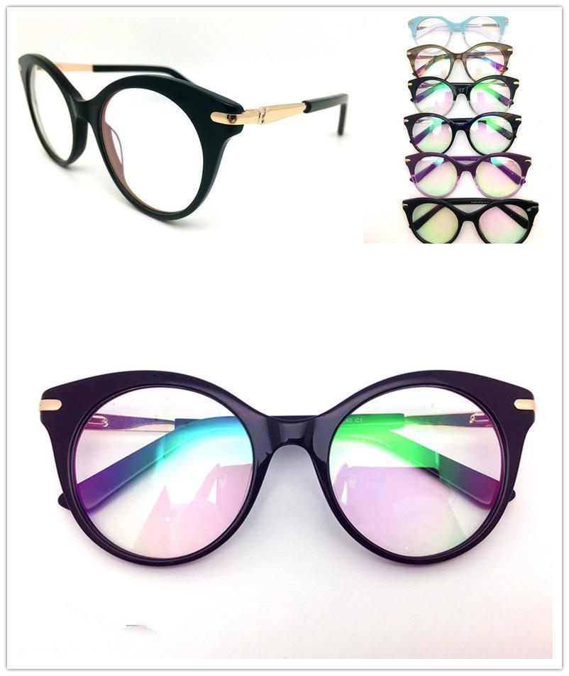 مصمم أعلى جودة العلامة التجارية بصري اطارات رجالية أزياء المرأة خمر خلات نظارات النظارات بلانك نظارات إطار نظارات نظارات HL042