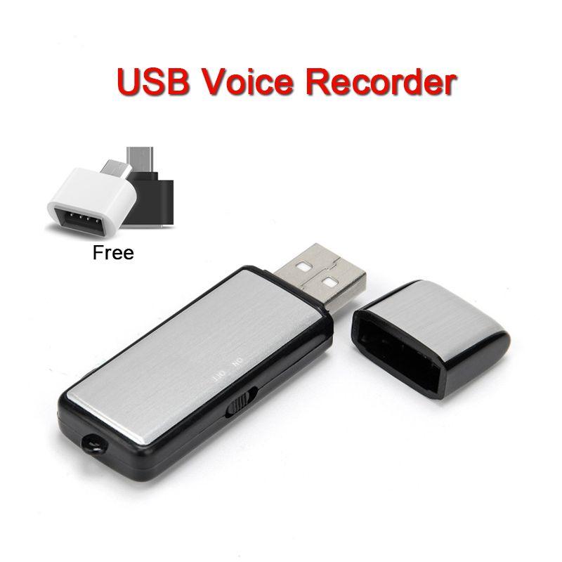 10PCS USB مسجل صوت محرك فلاش البسيطة الإملاء الصوت تفعيل USB القرص مسجل رقمي صغير تسجيل الصوت جهاز